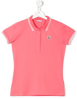 Moncler classic polo shirt - kids - Cotton/Spandex/Elastane - 14 yrs
