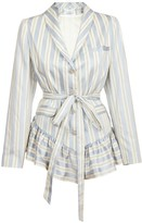 Jiri Kalfar Light Blue & Creme Stripe Jacket