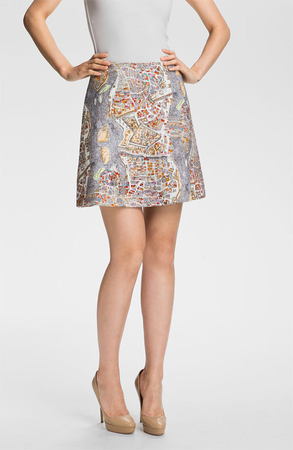 Carven Print Skirt