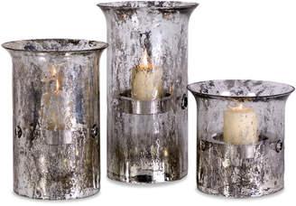 808 Home Imax Set Of 3 Mercury Candleholders