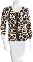 Blumarine Beaded Printed Cardigan