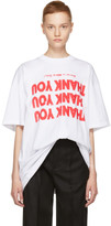 Raf Simons White 'Thank You' Big T-Shirt