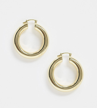 House of Freedom at Topshop gold plated thick hoop earrings