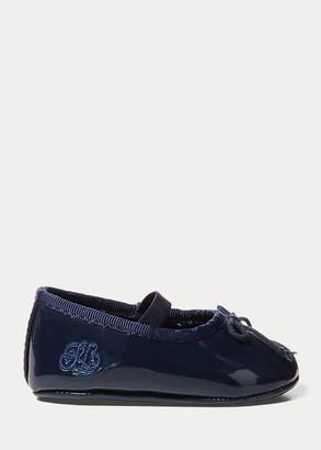 Ralph Lauren Allie Faux-Leather Ballet Flat