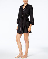 Kate Spade Embroidered-Back Terry-Lined Wrap Robe