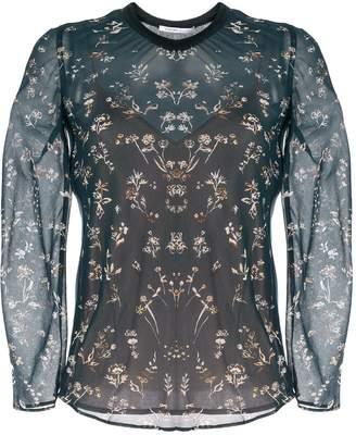 Agnona floral silk blouse