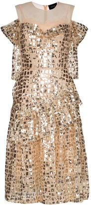 Simone Rocha Ruffled Sequin Dress