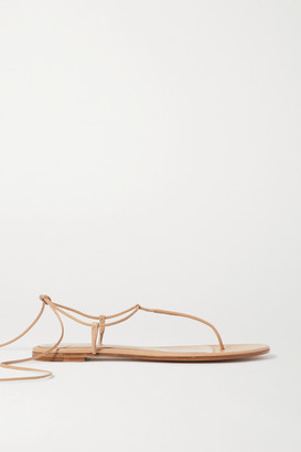Gianvito Rossi Leather Sandals - Neutral