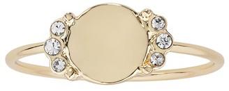 Lauren Conrad Gold Tone Pave Disc Ring