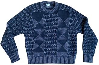 Saint Laurent Silver Wool Knitwear