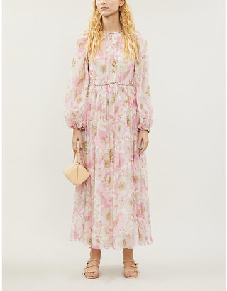 Zimmermann Super Eight floral-print silk-crepe midi dress