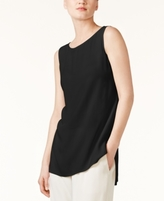 Eileen Fisher SYSTEM SYSTEM Silk High-Low Shell, Regular & Petite