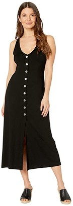 Karen Kane Button-Up Alana Dress (Black) Women's Dress