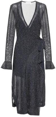 Chloé Metallic midi wrap dress