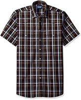 Wrangler Men's Big and Tall Wrinkle Resist Two Pocket Snap Front Short Sleeve Shirt