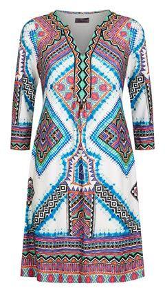 Hale Bob Embellished V-Neck Dress