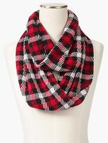 Talbots Forest Check Infinity Scarf