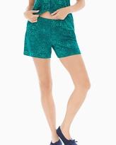 Soma Intimates Pajama Shorts Illumination Green Envy