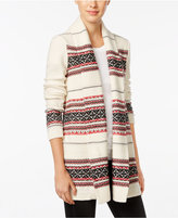 Style&Co. Style & Co. Jacquard Striped Cardigan, Only at Macy's