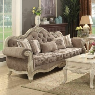 "Astoria Grand Ullrich 93"" Rolled Arm Sofa Upholstery Color: Gray, Leg Color: White"