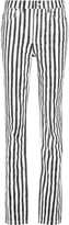 Marc by Marc Jacobs High-rise striped straight-leg jeans