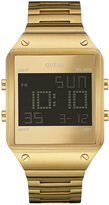 GUESS Brushed Gold-Tone Digital Watch