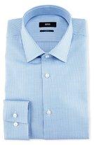 BOSS Slim-Fit Houndstooth Dress Shirt, Light Blue