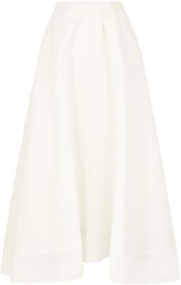 Roland Mouret Mulligan off-white organza midi skirt