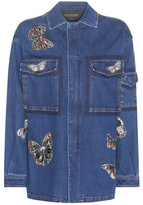 Valentino Denim Jacket With Embroidered Appliqué