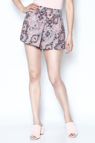 y&i clothing boutique Pink Mosaic Flirty Shorts