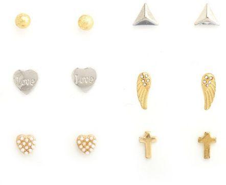 Charlotte Russe Wings & Crosses Earrings Set