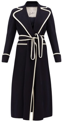 Giuliva Heritage Collection The Belinda Double-breasted Brushed-cashmere Coat - Womens - Navy White