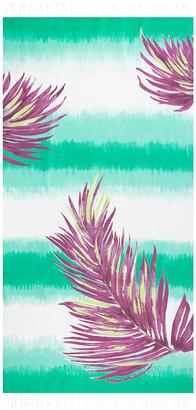 Saint Tropez Marinette Borabora Beach Towel - Emerald/Palm Purple
