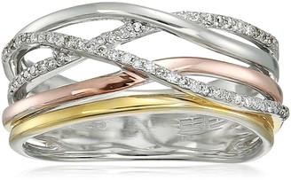 Effy Womens 925 Sterling Silver Diamond Ring