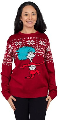 Mighty Fine Dr. Seuss Thing 1 Ugly Christ mas Sweater