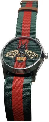 Gucci Le Marche des Merveilles Green Steel Watches