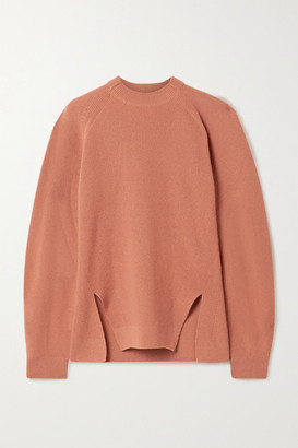 Loro Piana Girocollo Brixton Ribbed Cashmere Sweater - Orange