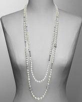 """Carolee LUX """"Glamour Girl"""" Double Row Station Necklace 32"""""""