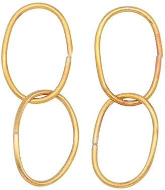 Lily Flo Jewellery 14K Cherish Double Chain Gold Earrings