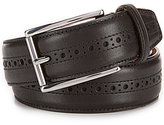 Cole Haan Stitched Pressed Edge Leather Belt