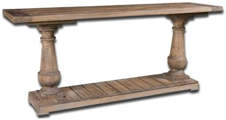 Uttermost Stratford Distressed Patina Rustic Console Table