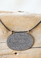 Designs By Alina Pave Chic Diamond & Leather Necklace
