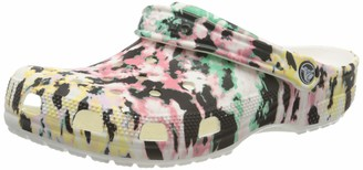 Crocs Unisex Classic Tie Dye Clog | Comfortable Slip on Water Shoes