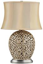 "30"" Serene Pearlescent Cream Table Lamp"