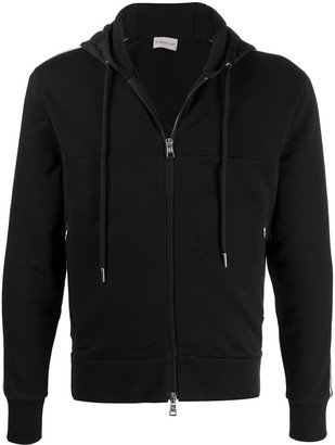 Moncler Side-Stripe Zipped Hoodie