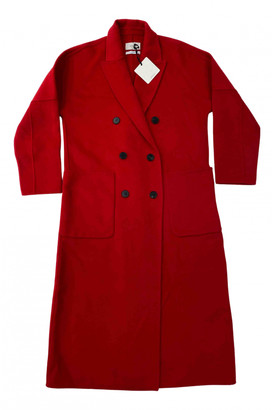 Vicolo Red Wool Coats