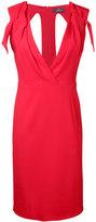 Capucci v-neck fitted dress - women - Spandex/Elastane/Acetate/Viscose - 44
