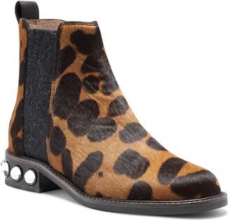 Louise et Cie Venda Embellished Heel Genuine Calf Hair Chelsea Boot