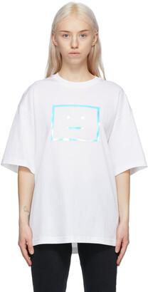 Acne Studios White Metallic Logo T-Shirt