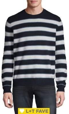 Black & Brown Black Brown Heathered Stripe Stitch Cashmere Crewneck Sweater